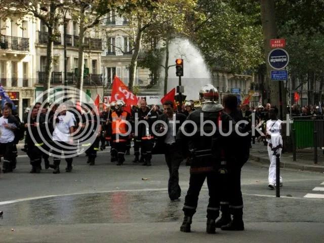 Grève des pompiers - automne 2006
