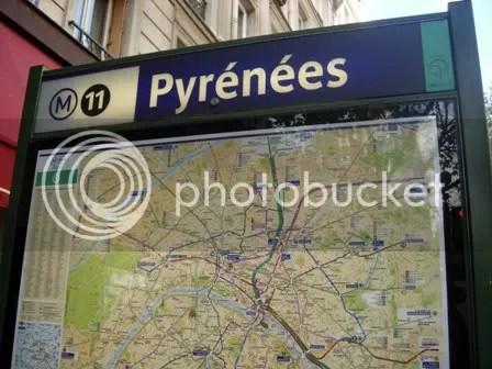 Au métro Pyrénées - décembre 2006