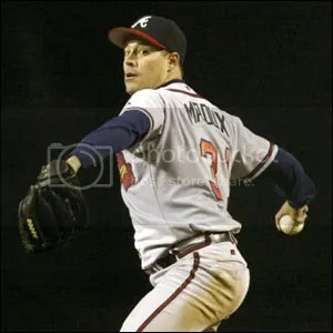 The Mad Dog in his Braves days