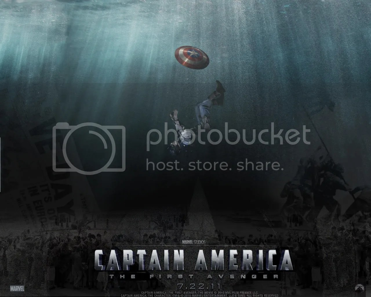 Image result for captain america sinking