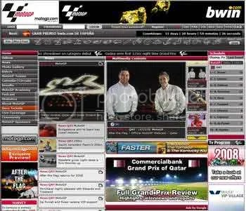 old MotoGP website