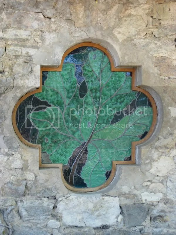 Grape Leaf Stained Glass