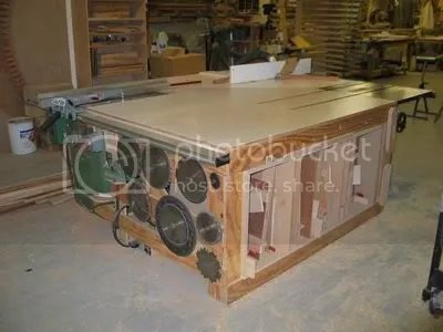 stationary saw outfeed table plans outfeed table plan from woodweb