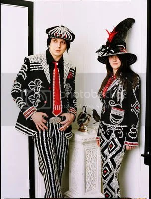 Jack and Meg as Pearly King and Queen