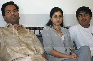 Kunal Sah and parents