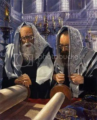 Rabbis reading Torah Pictures, Images and Photos