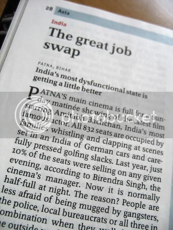 The Economist article