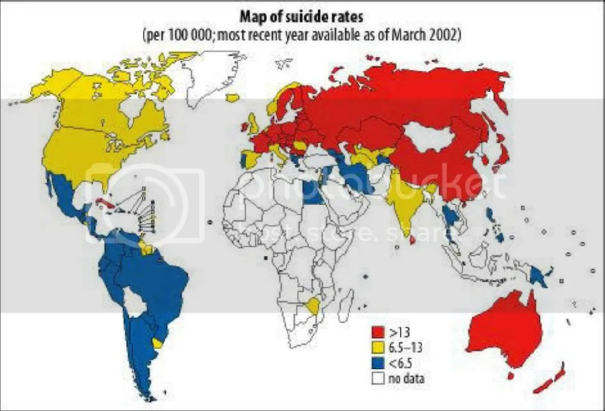 Suicide rates of the world and why people kill themselves ...