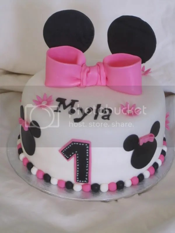 Images Of Minnie Mouse 1st Birthday Cakes Bedwalls