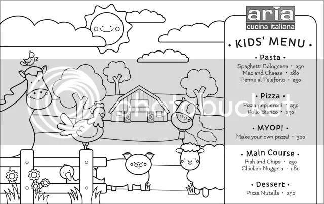 Aria Kids' Menu