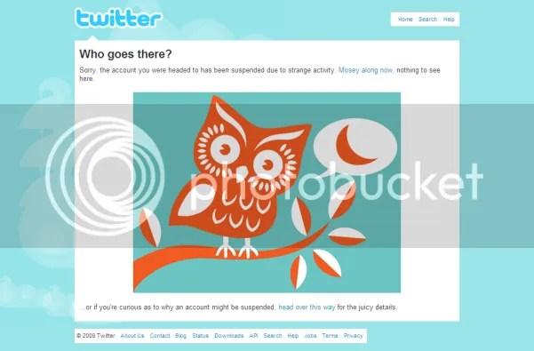 Twitter - felfüggesztve