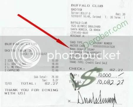 Donald's tip