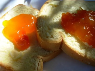 Brioche with Home-Made Apricot and Lavender Jam