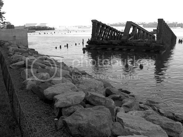 Hudson River wreckage, New York Central Railroad, 69th Street Bridge