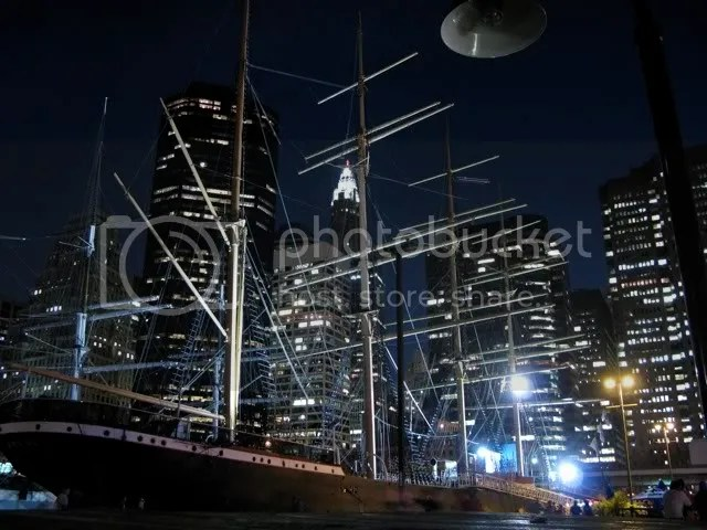 South Street Seaport sinking into New York City