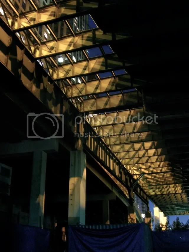 Under the West Side Highway/Henry Hudson Parkway