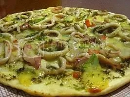 seafoods pizza for snacks & dinner.