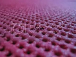 The table mat on macro.