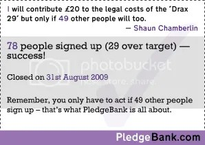 Sign my pledge at PledgeBank