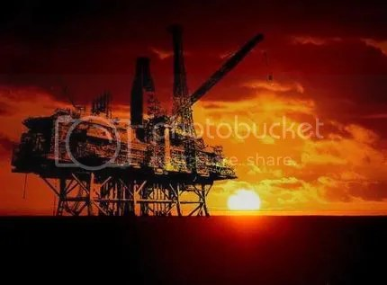 Oil Platform - Dusk