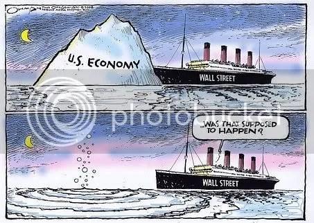 Titanic iceberg economy