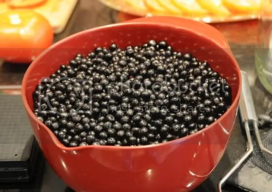 About two-thirds of the destemmed berries