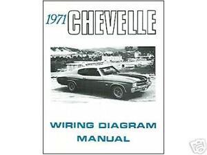 1971 71 CHEVELLE EL CAMINO WIRING DIAGRAM MANUAL | eBay