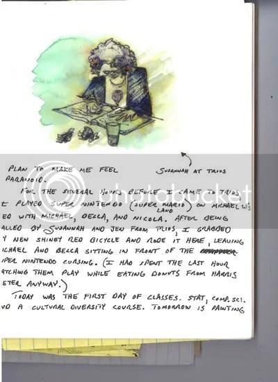 journal drawing susannah