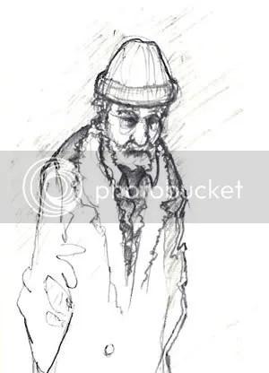 sketch of old man Joe