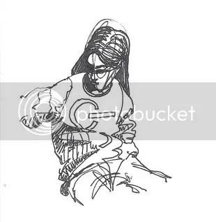 ink gesture drawing of a sweatshirt