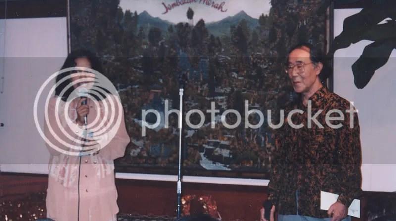 Bersama Bapak Matsumoto Ryo, Restoran Jembatan Merah,Akasaka-Tokyo dalam penyambutan Pedalang Ki Manteb Sudharsono