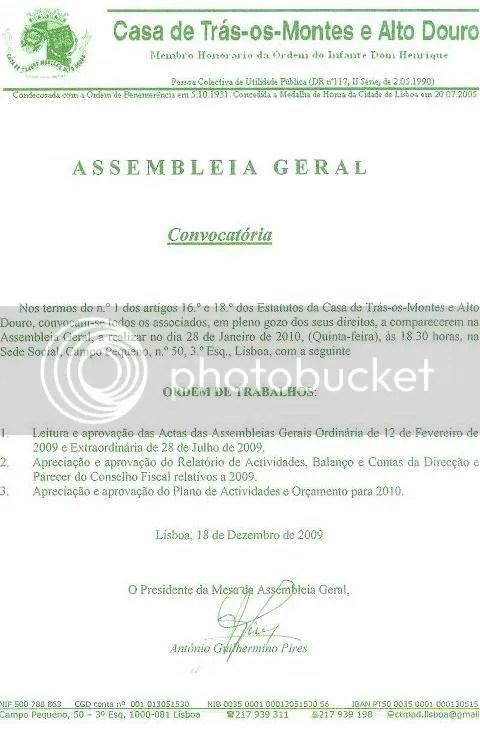 AG 2010,convocatoria