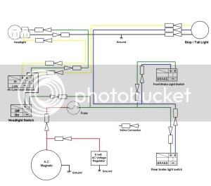 TT500 wiring for the street   Yamaha XT500 Forum