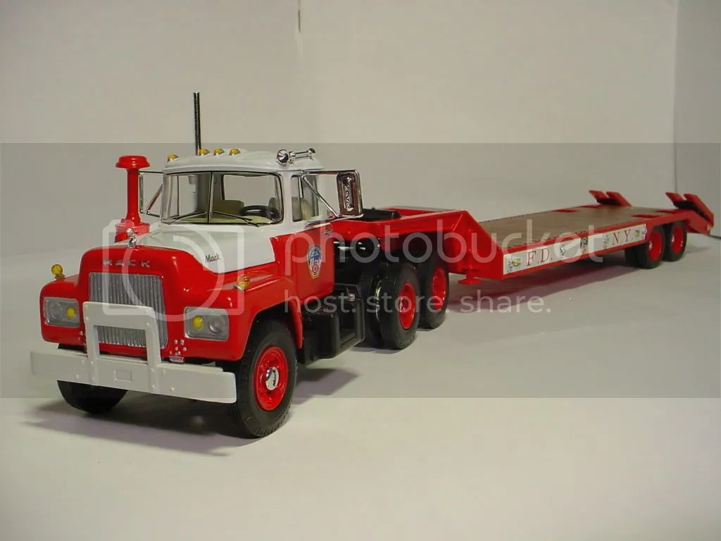 Fg Fdny Mack R Tractor And Lowboy Photo By Dfdeng44