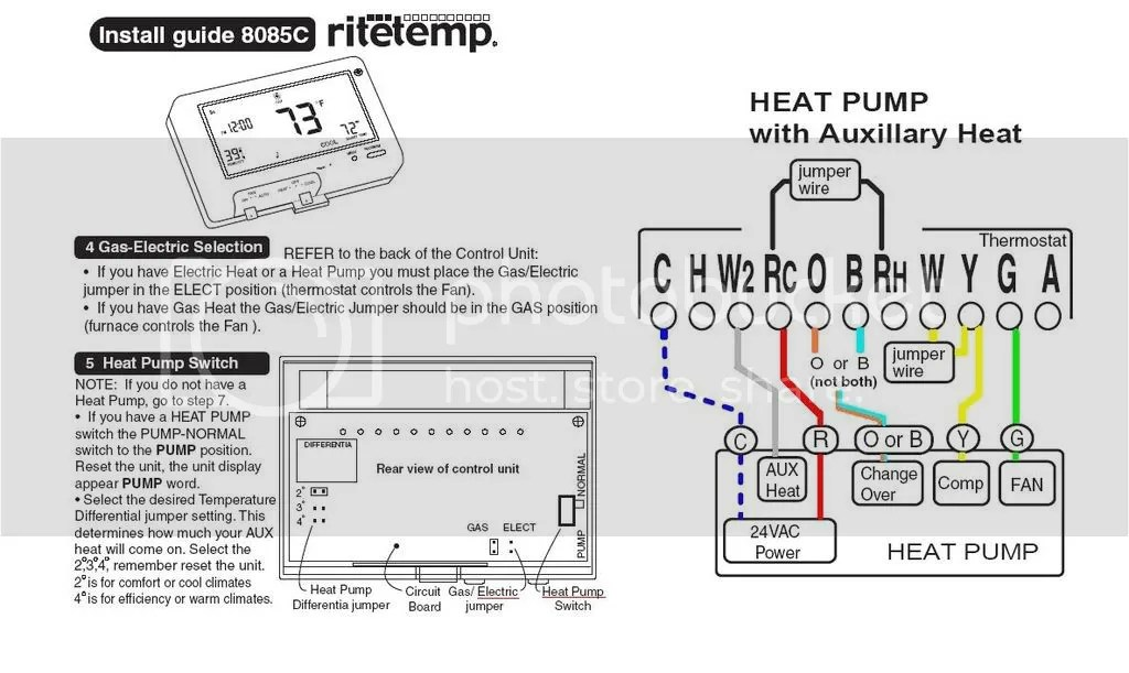 Ritetemp8085Cheatpump?resize=665%2C397 heil wiring diagram the best wiring diagram 2017  at soozxer.org
