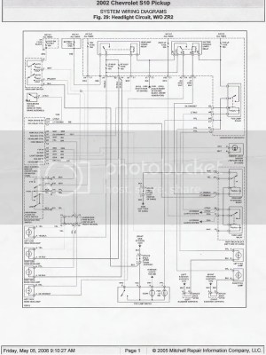 Headlight Wiring Diagram 98  S10 Forum