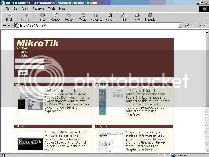 Web Mikrotik