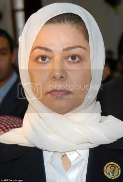 Raghad Saddam Hussein,  46-year-old, daughter of Saddam Hussein, now in Jordan where she has lived as a 'guest' of the royal family since leaving Iraq - and is being funded by her hosts,   Baathists have even been helping ISIS take control of towns in northern Iraq. She expressed delight after militants captured Tikrit, her father's hometown, last year, telling Jordanian newspaper Al-Quds: 'These are victories of my father's fighters and my uncle Izzat Al-Douri.'