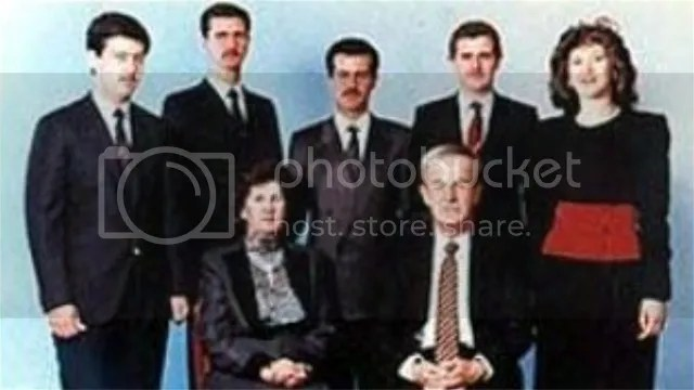 Far left, Maher al-Assad