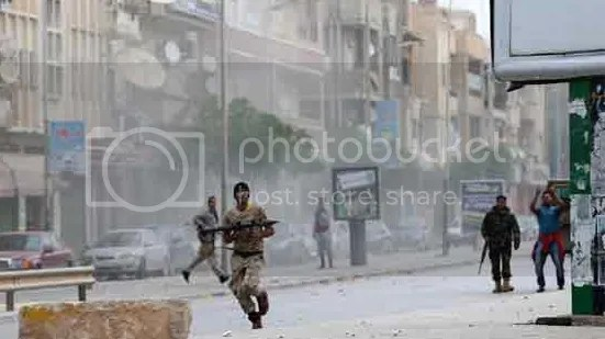 heaviest clashes were taking place around Benghazi University