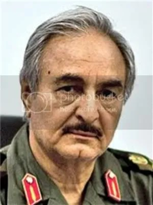 Khalifa Hiftar, the Libyan military commander who this morning called for the suspension of the interim parliament and the formation of a presidential committee to govern until new elections are held.