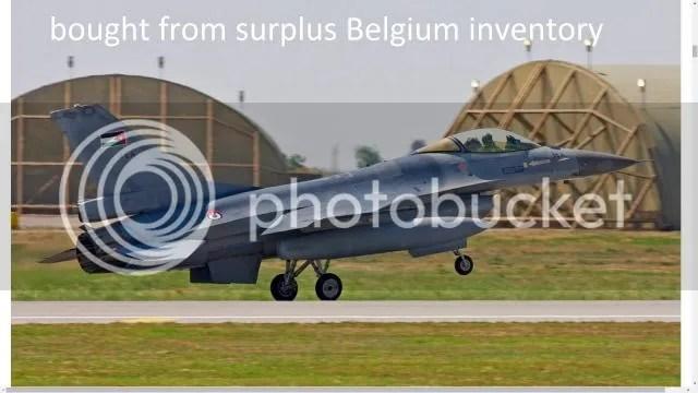 Jordan F-16, bought from surplus Belgium inventory