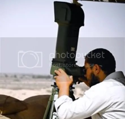 Laser scope used to identify targets for attacking aircraft