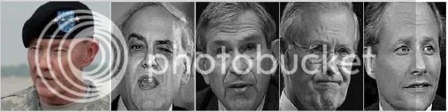 Gen. Martin E. Dempsey, Perle, Wolfowitz, Rumsfeld, Kristol