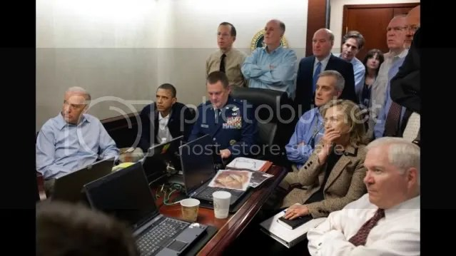 Whitehouse Situation Room, evening May 01