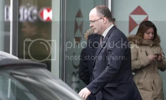Geneva's Attorney General Olivier Jornot is seen leaving an HSBC Swiss branch of the bank in Geneva on February 18. Geneva's public prosecutor searched the premises of HSBC Holdings PLC in Geneva on Wednesday and said it had opened a criminal inquiry into allegations of aggravated money laundering.