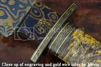 Gold Rush Bowie - Ricasso and Hilt