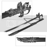 Ornate Medieval Dragon Sword
