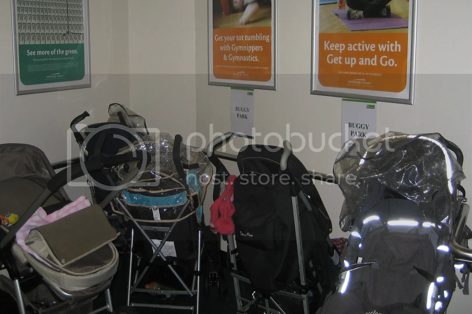 Buggy park at Leith Victoria full up