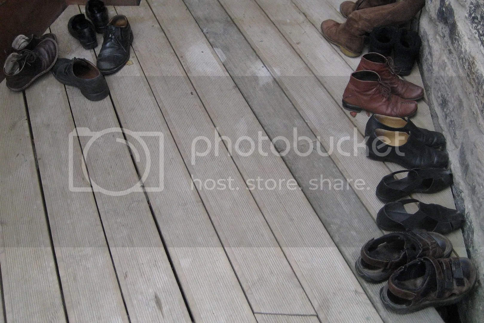 Couperfield Doors Open Day - shoes on decking